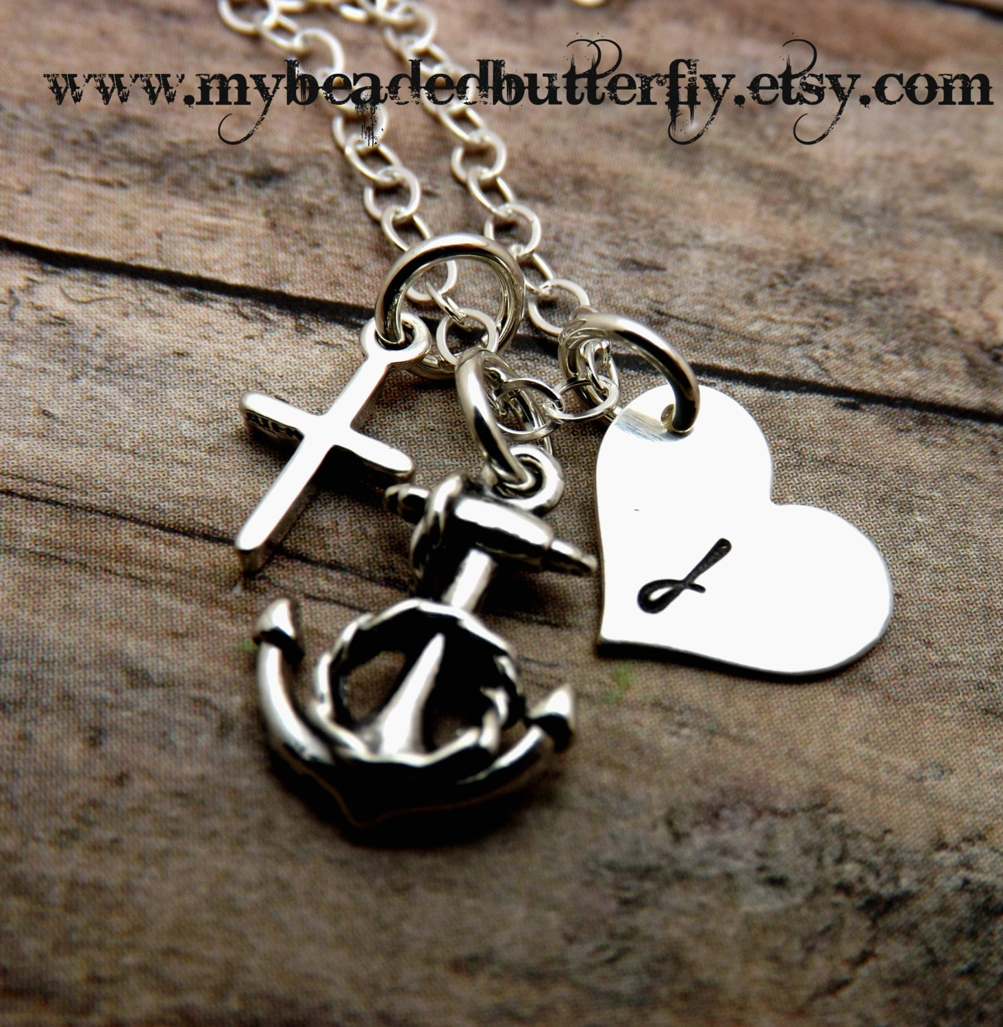 Handstamped jewelry personalized for Faith hope love jewelry