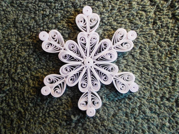 "Mini Quilled Snowflake ""Queen of Hearts"" Ornament"