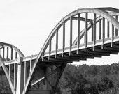 Over the Bridge- Black and White Print