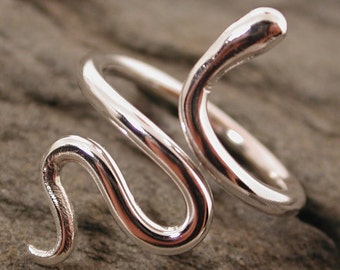 Silver Snake Ring Modern Medusa Jewelry Year of the Snake Sterling Silver Serpent Ring by Susan SARANTOS