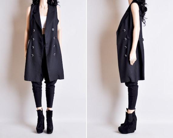 sleeveless trench coat dress / s / m