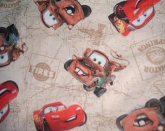 MadieBs Tan Cars Mater McQueen Cotton Fabric Fitted Sheet