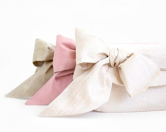 Nude and blush pink wedding clutches, Silk wedding clutches, Personalized bridesmaids gifts, Wedding gift, Silk purse, Bridesmaid clutches