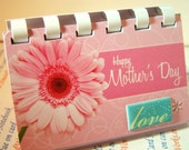 Happy Mothers Day Love  ---   uPcycled Giftcard Notebook
