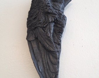 I gave you all of me. Bird wing sculpture by Darla Jackson