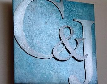 Custom Wedding Metal Letter Artwork, 8 inch