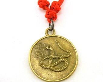 Chinese zodiac snake necklace