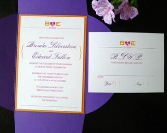 Joyful Hearts Petalfold Wedding Invitation