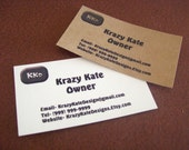 Personalized, 50 Business cards, custom printing, logo design