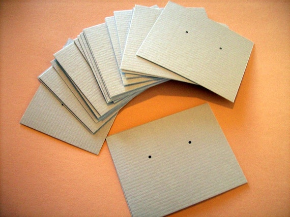 30 Earring cards - light grey- post earring cards