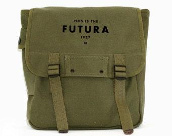 Typography Quote Backpack, Futura, Canvas Backpack, Rucksack, Travel Bag, Laptop Backpack, Wes Anderson, Gift for Men, Men Backpack