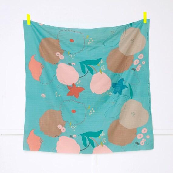 Nani Iro Waltz Double Gauze Fabric - Turquoise