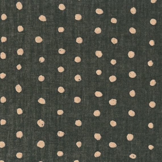 Metallic Gold Dot Fabric With Metallic Gold Dots