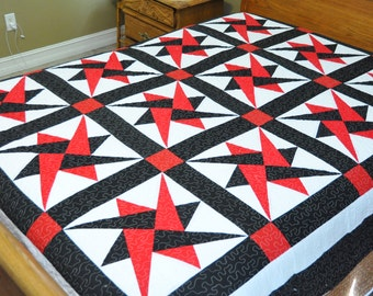 Holiday Sale Star  Patchwork Complete Quilt  Y48