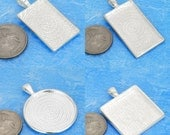 MIXED blank pewter tray blank pendant