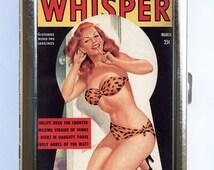Pin up pinup Cigarette Case Wallet Business Card Holder vintage retro rockabilly