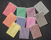 100 striped bags - 5 X 7 - available in 10 colors!