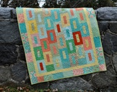 Baby Quilt Pattern.....Layer Cake, Fat Quarter and Fat Eigth friendly, ..also Large Lap size, Falling into Place