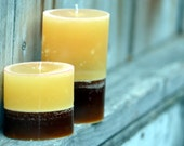 SALE: Set of Amaretto Coffee Scented Oval Candles