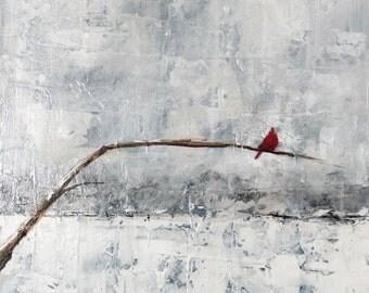 Original Art - Winter Cardinal