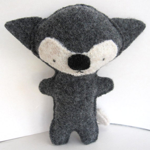 Gray Fox - Recycled Wool Plush Toy