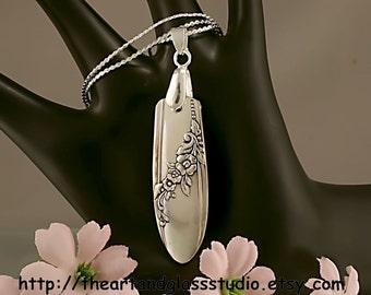 Silver Spoon Pendant QUEEN BESS Jewelry Necklace Vintage, Silverware, Gift, Anniversary, Wedding, Birthday