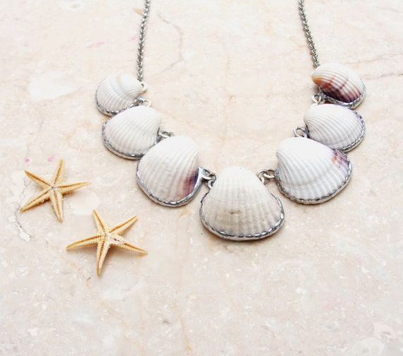 Seashell Necklace Beach Jewelry Shell Solder