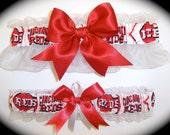 Cincinnati Reds Wedding Garter Set   Handmade  Keepsake and Toss Bridal rw1