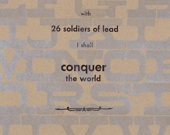 Lead Army - letterpress print