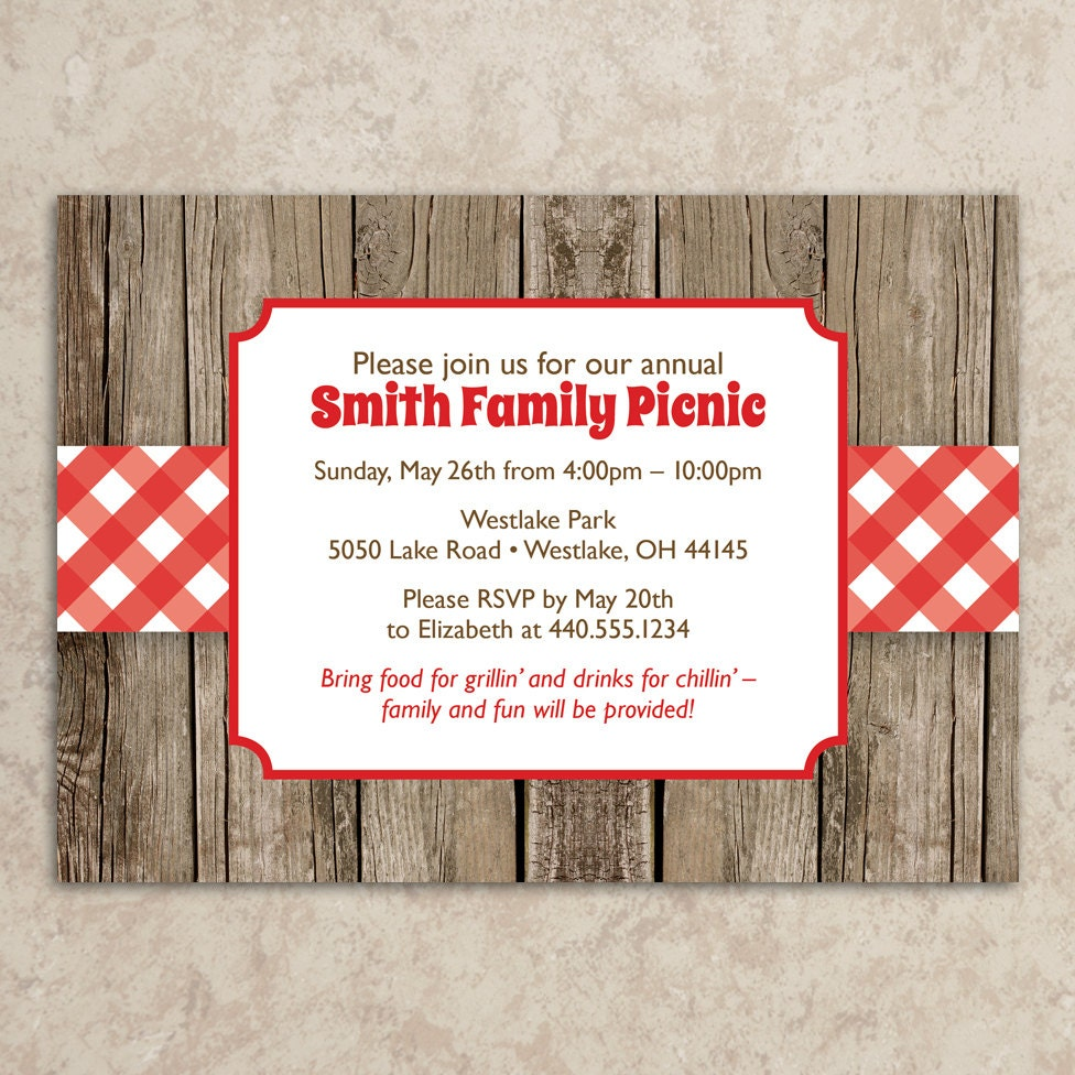 Picnic Wedding Invitations - home decor - Mrsilva.us