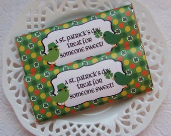 Printable St Patricks Day Sweet Treat Large Candy Bar Wrappers - Instant Download