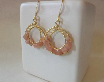 Pink Goddess Wrap Earrings