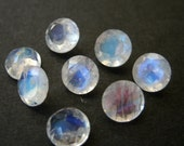 Faceted Gemstones Rainbow Moonstone Brilliant Cut 5mm FOR ONE