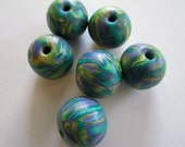 Undersea Garden Handmade Polymer Clay  Beads Jewelry Supplies
