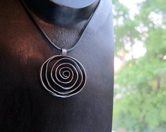 X-Large Sterling Silver Urban Rose Pendant