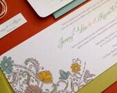 TWINE COLLECTION- Paisley wedding invitation set