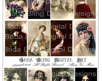 Great Beauties Of Europe, INSTANT Digital Download At Checkout, altered art  digital collage sheetsvintage photos,Paris,ephemera