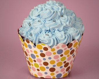 Multi Color Polka Dot Paper Cupcake Wrappers Set of 12