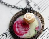 Ardently (Mr Darcy quote Jane Austen inspired necklace)