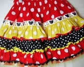 "Fun N Funky Red, Yellow and Black Polka Dot ""Minnie"" Skirt"