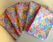 Conversation Heart Zippered Pouch, Valentines Day, Cosmetic Bag, Makeup Bag, Gift Bag, Pastel Colors