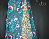 SAMPLE -  A-line SKIRT with Peek a Boo Pleat - Amy Butler - Size XS / S - by Boutique Mia and More - Ready To Ship