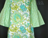SAMPLE - Ladies Tunic Dress or Top - Amy Butler - Will fit size M - by Boutique Mia and More - Ready To Ship