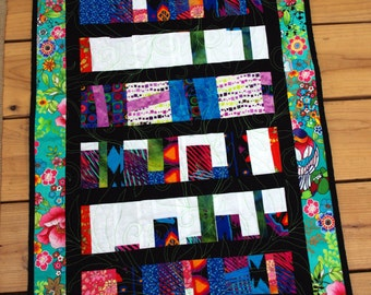 Wild Art Quilt Wall Hanging Colorful Contemporary