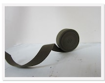 Army Green Twill Fabric Ribbon, Cotton Twill Tape, Green Medium Herringbone Twill Tape