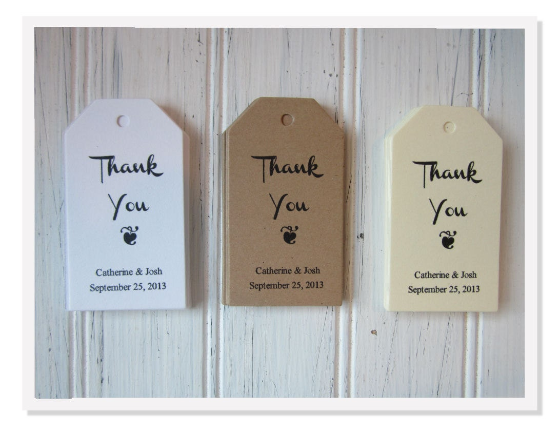 Wedding Favor Thank You Tags Personalized Favor Favor Tags