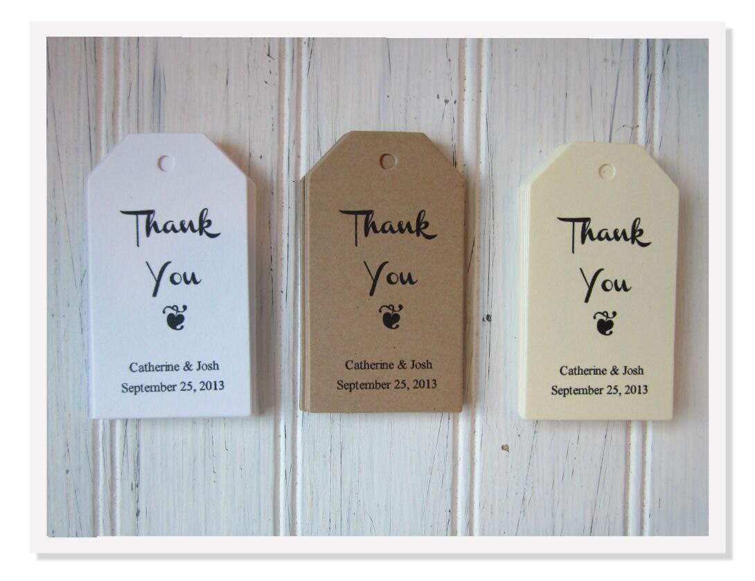 Wedding Favor Tags Thank You : Wedding Favor Thank You Tags Personalized Favor Favor Tags