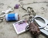 Knitter's Chatelaine - Purple Paisley