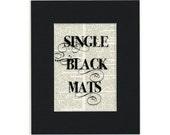 MATS Black, 8x10 single mats