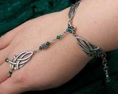 Eldriennah - Celtic Emerald Princess Swarovski Silver Bracelet/Ring